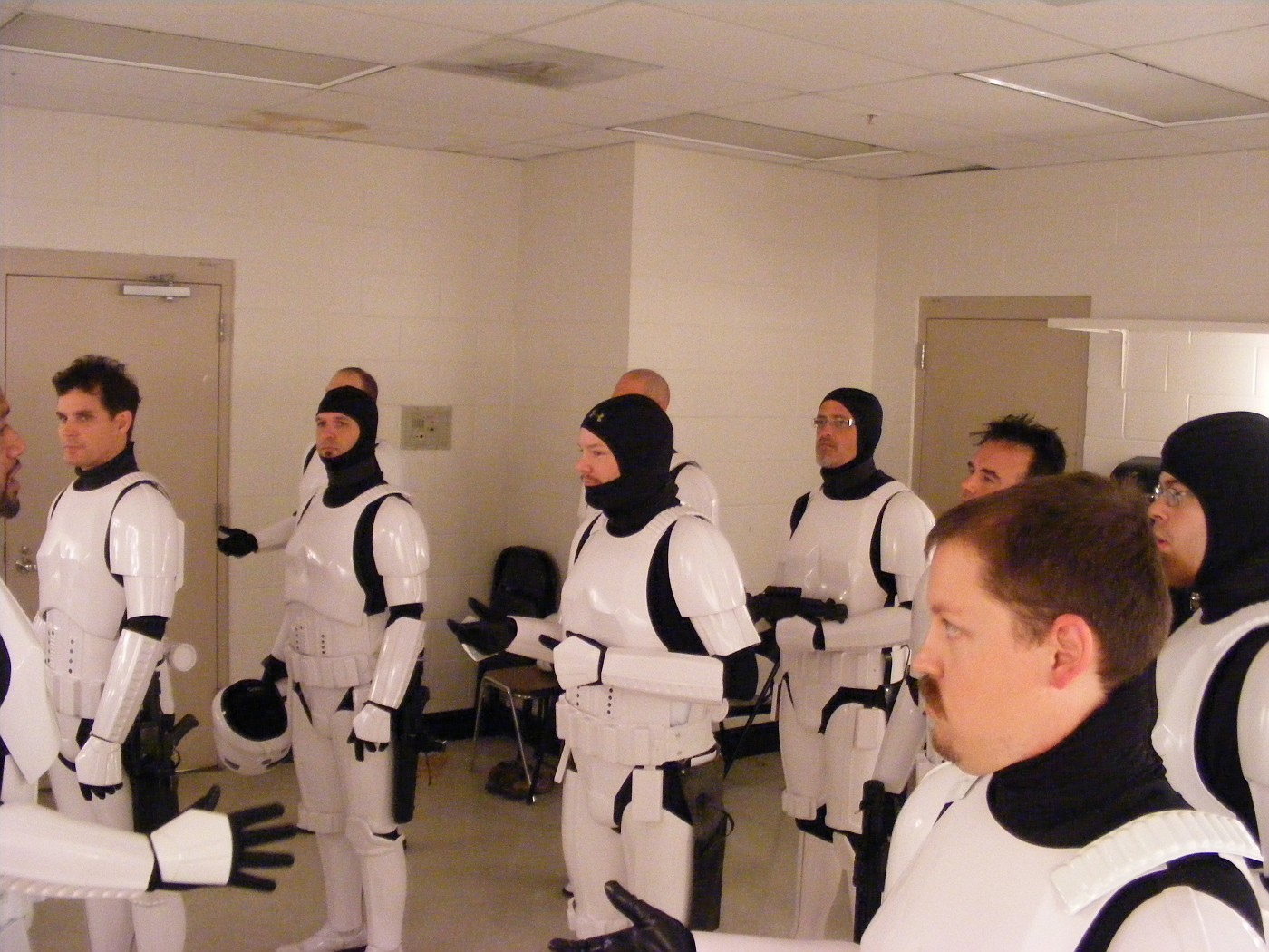 Jay rehearses the troops in our dressing room
