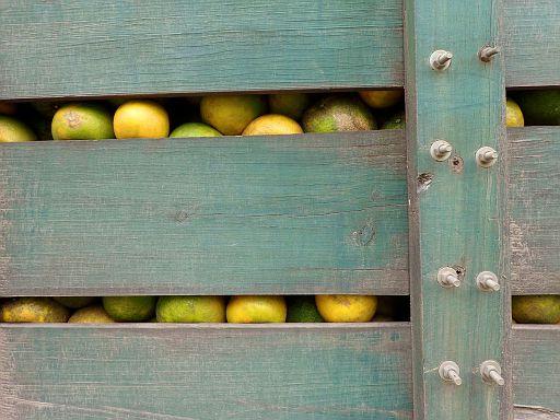oranges in the truck