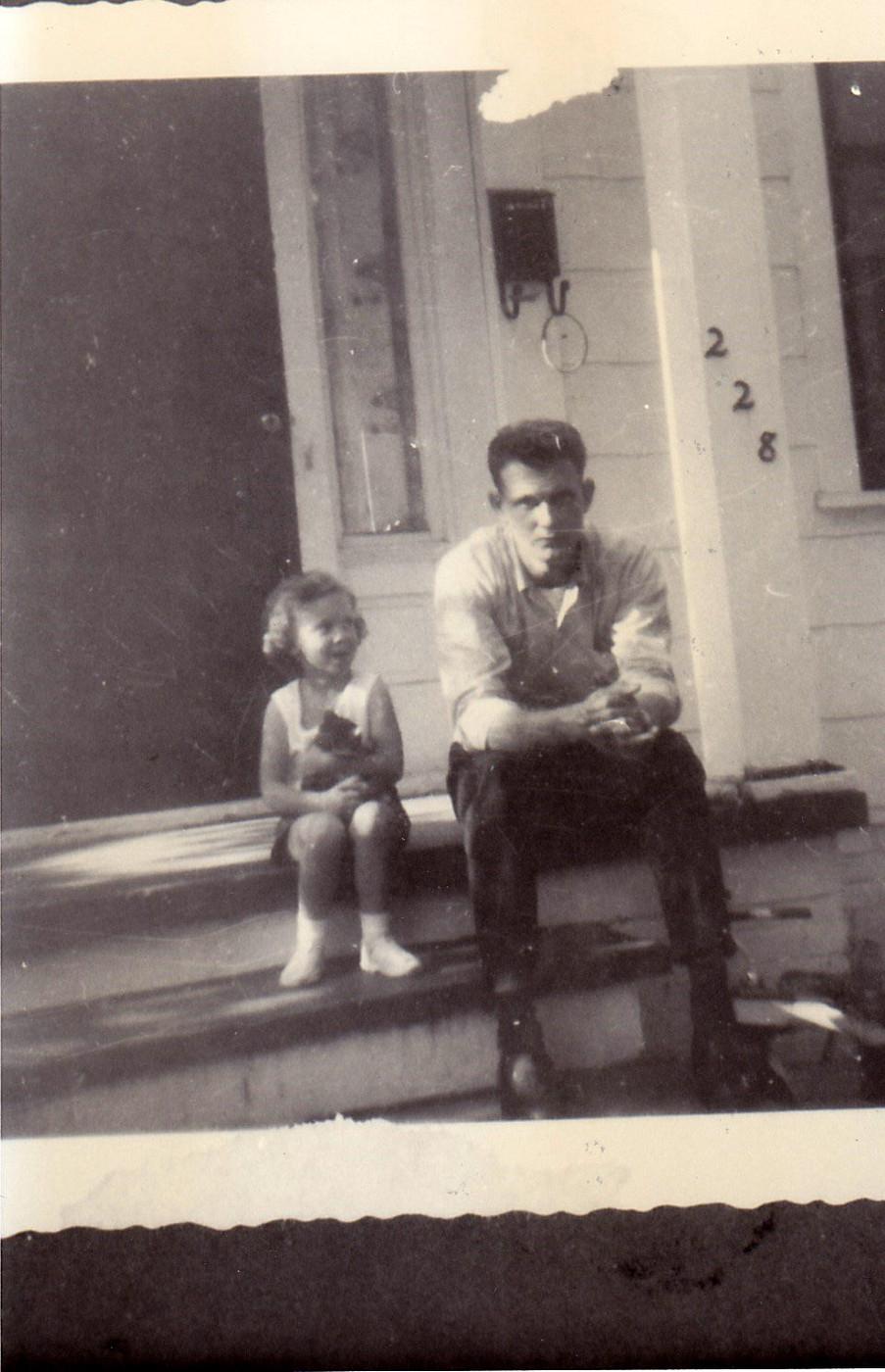 (77) - Valerie Lynne SHARPE and her daddy, Mylus Ott Sharpe