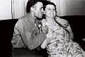 Conrad Kemp kissing Agnes Kemp. Photo courtesy of the Pryor family.