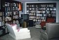 Basement library, view toward television
