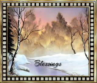 Blessings-gailz0110-Speckle Diamond Gold Frame-Gamock