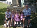 BYRON WITH HIS 4 GREAT GRAND DAUGHTERS, CAITLYN, ELLIE, ISABELLE AND ADDIAH