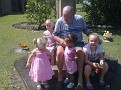 BYRON WITH HIS 4 GREAT GRAND DAUGHTERS, ISABELLE, ELLIE, ADDIAH AND CAITLYN
