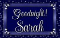 Sarah - Goodnight