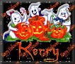3 Ghosts & pumpkinKerry